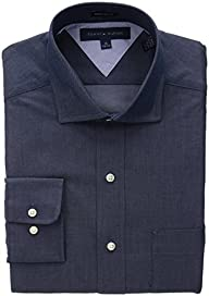 Tommy Hilfiger Men's Regular Fit Chambray Solid