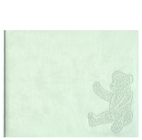 Pierre Belvedere Teddy Bear Guest Book, Padded Cover, Ice Green (978890)