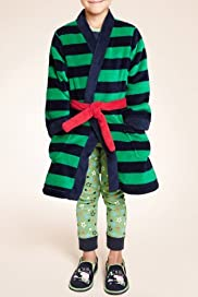 Striped Dressing Gown with Stay New [T86-3456D-S]
