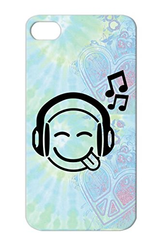 Swagg Smiley Grin Music Music Rock Miscellaneous Hip Hop Beat Cool Headphones Dance Black F1 Tpu For Iphone 4 Case Cover