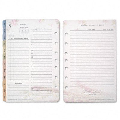 Franklin Covey Blooms Daily Planner Refill, Two Pages per Day, 5-1/2 x 8-1/2