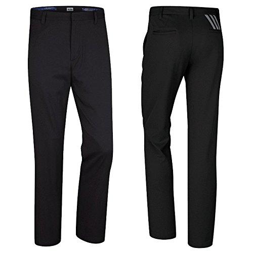 """Adidas Puremotion® """"Nuovo modello 2015"""" - Pantaloni da golf da uomo in materiale Climalite: colore: Nero con le 3 strisce Grige"""