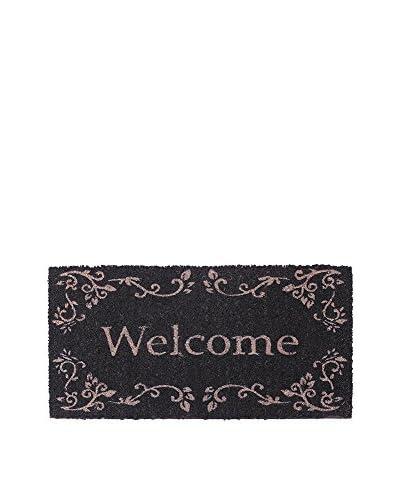RETRO HOME deurmat Welkom zwart