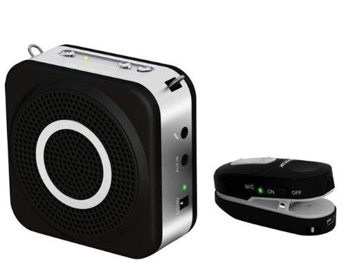 Takstar E160W 2.4G 12W Usb Digital Wireless Amplifier Portable Hi-Fi With Clip-On Transmitter Waist Hanging Type Megaphone 20M-Black