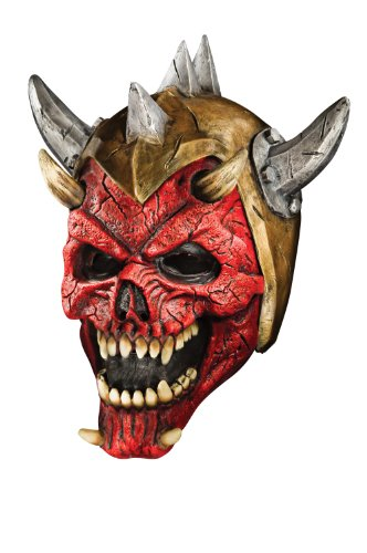 Foam Latex Helmet-Mask, Horned Demon Warrior