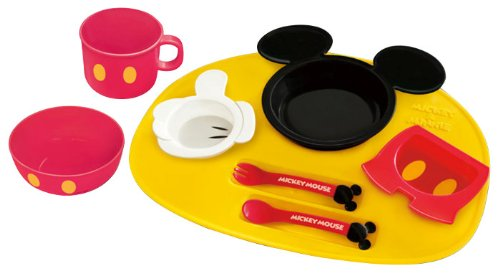 Kumho chemicals [fun food] Mickey Mouse icon baby Dinnerware set