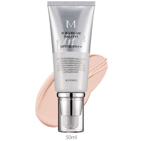 MISSHA M upgraded BB B.B. Cream (Blemish Balm) 50ml - MATTE VITA BB CREAM SPF20