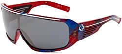 Spy Optic Tron Oversized Sunglasses,Hipster Plaid Frame/Grey with Silver Mirror Lens,One size