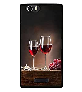 Fuson Premium 2D Back Case Cover Glass of wine With Blue Background Degined For Micromax Canvas Nitro 2 E311::Micromax Canvas Nitro 2 (2nd Gen)