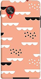 nexus 5 back case cover ,Geometric Sky Coral Designer nexus 5 hard back case cover. Slim light weight polycarbonate case with [ 3 Years WARRANTY ] Protects from scratch and Bumps & Drops.