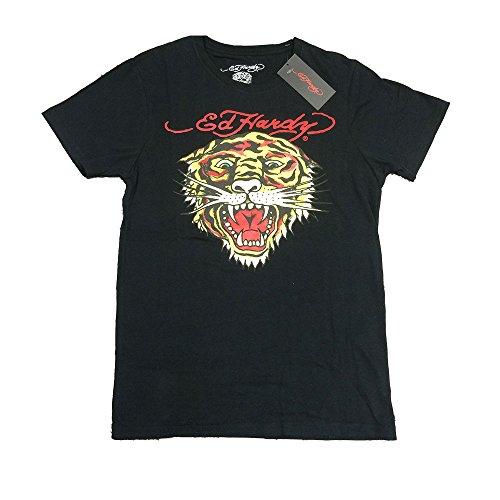 半袖 Tシャツ ブラック Edhardy エドハーディー タトゥー タイガーフェイス 虎顔 トラ ED-01 M