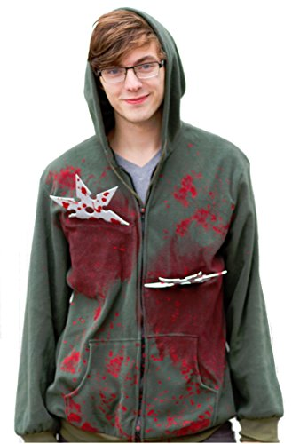 Ninja Stars Costume Hoodie Funny Halloween Costume Sweatshirt-Standard (Pop Culture Halloween Costume Ideas)