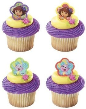 Dora the Explorer and Boots Springtime Friends Cupcake Rings - 24 ct