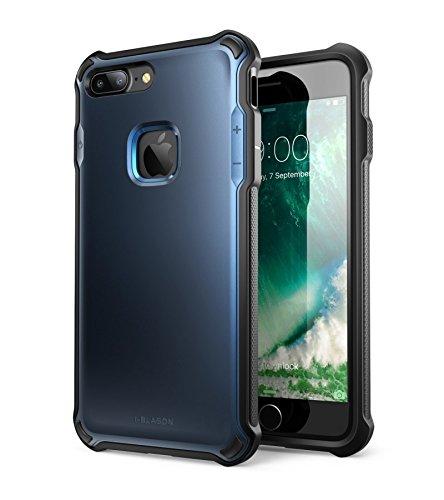 Custodia Protettiva iPhone 7 Plus, i-Blason [Venom] Cover Resistente Doppio Strato [Ultra Sottile] con TPU e Guscio Esterno Rigido per una maggiore protezione per Apple iPhone 7 Plus (Blu)