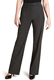 M&S Collection 1 Zip Pocket Straight Leg Trousers [T57-5460T-S]