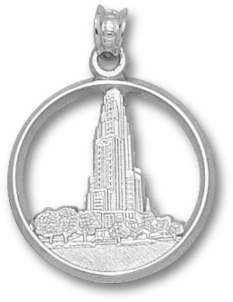 Pittsburgh Panthers Cathedral Learning Pendant - Sterling Silver Jewelry by Logo Art