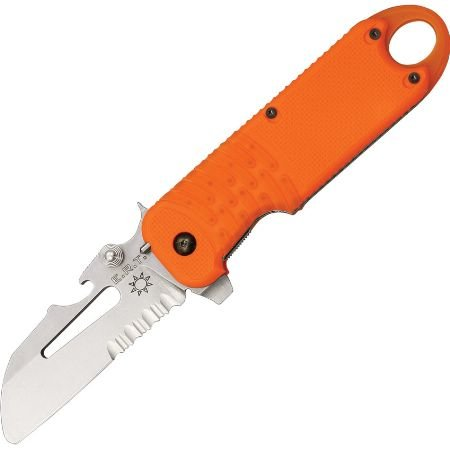 Fox ERT Rescue Linerlock Folding Knife,5in closed,Partially Serrated Sheepsfoot FX-214