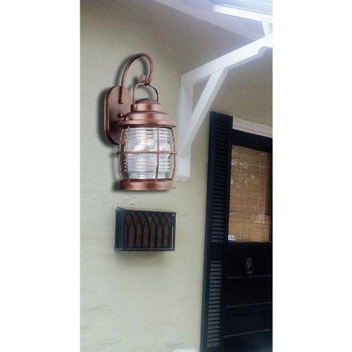 Kenroy Home 90951GC Beacon Small Wall Lantern, Gilded Copper