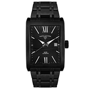 Swiss Legend Men's 30012-BLK-BLK Limousine Collection Automatic Watchand Winder