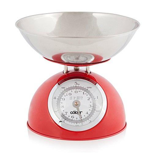 Balance culinaire pouvant supporter jusqu'à 5 kg (rouge)