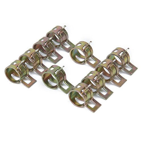 10 x 10mm Spring Clip Gas Hose Line Water Pipe Air Tube Clamps Fastener
