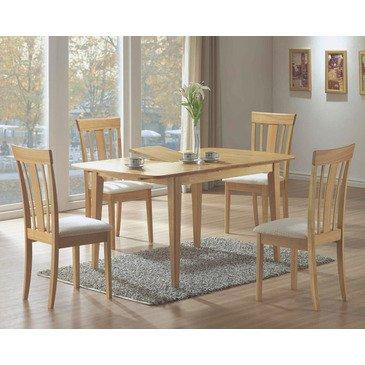 Monarch Specialties I 4267 5 Piece Maple Rectangular Dining Room Set
