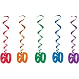 60 Whirls (asstd colors) Party Accessory  (1 count) (5/Pkg)