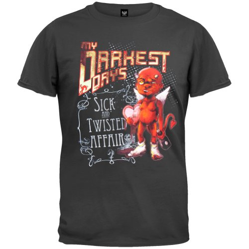 My Darkest Days - Mens Sick & Twisted Affair T-Shirt Large Black front-1056230