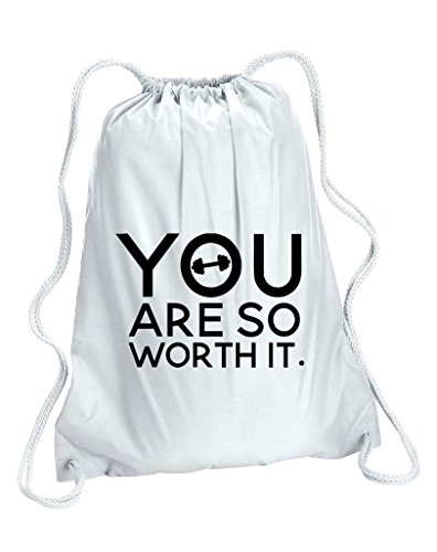 You Are So Worth It Motivational manubri allenamento palestra borsa da donna, Donna, bianco, Taglia unica