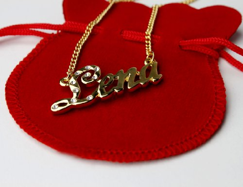 "Name Necklace ""Lena"" 18K Gold Plated"