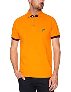 Lyle and Scott Green Eagle Men's Tipped Polo - Dark Cheddar, X-Large (Old Version)