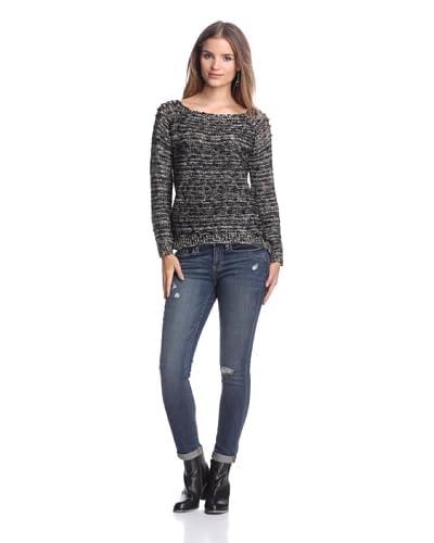 Dex Women's Metallic Sweater with Studs
