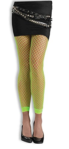 Forum Novelties Women's Novelty Fishnet Leggings, Neon Green or Pink, One Size