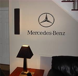 Garage Wall Mercedes Emblem Logo Decal Sticker Art 12 from musin llc
