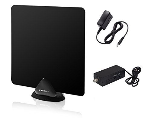 Review Of HDTV Antenna and Amplifier, Liger® 50 Mile Range Ultra-Thin Indoor Antenna Plus Antenna A...