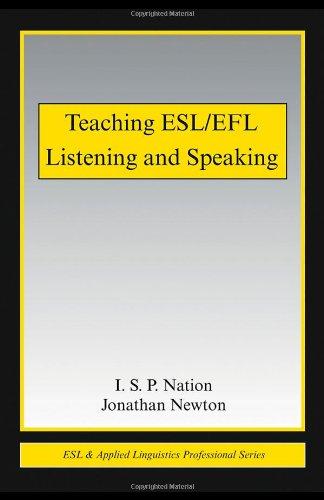 Teaching ESL/EFL Listening and Speaking (ESL &...