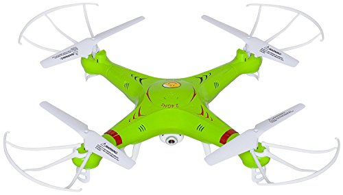 UX5C-RC-Quadcopter-Drone-with-Camera-720p-HD-Headless-Mode-24GHz-4-CH-6-Axis-Gyro-RTF-Includes-BONUS-BATTERY-Doubles-Flying-Time