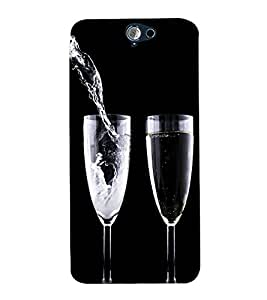 printtech Wine Drink Glass Back Case Cover for HTC One A9