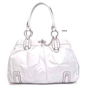 Double Stitch Handbag/Tote - White - Free Shipping