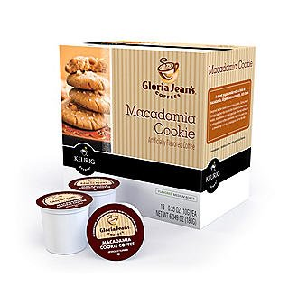 Gloria Jean's Macadamia Cookie Flavored Coffee- 18 K-cups for Keurig Brewer