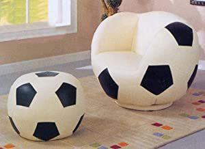 Children Soccerball Chair And Ottoman by AtHomeMart