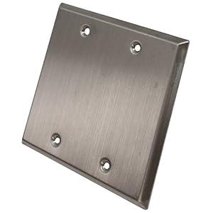 Seismic Audio SA-PLATE15 Stainless Steel Blank Gang Wall Plate