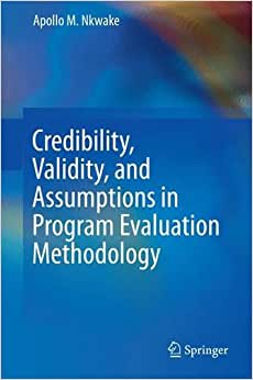 Credibility, Validity, And Assumptions In Program Evaluation Methodology
