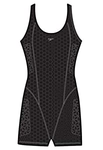 Speedo 7238509 Womens Compression Body Suit, Black, 4