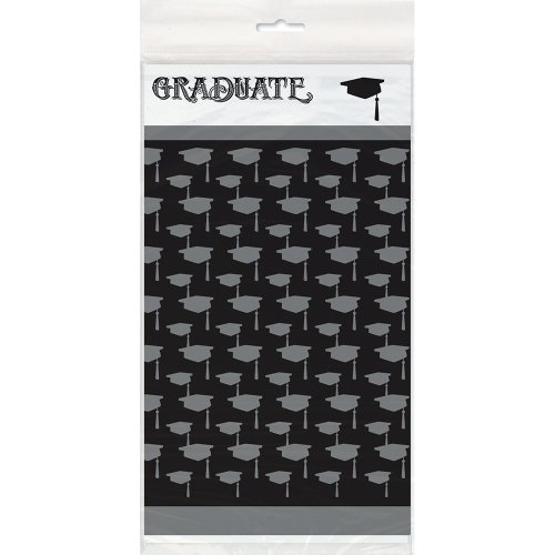 Classic Graduation Plastic Tablecloth, 84