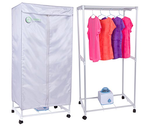 Simple Living Electric Portable Clothes Drying Rack - Compact Wardrobe dryer uses only 1000 Watts. Dries clothes within 30 Minutes. (Baby Clothes Dryer Rack compare prices)