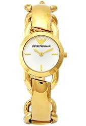 Emporio Armani Women's AR0761 Fashion Goldtone Stainless Steel White Dial Watch