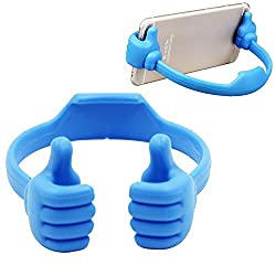 Universal Flexible Cute Thumb Designed Smartphone Tablet Desk Table Stand Display Mount Holder for Mobile Cell Phone iPad Mini iPhone 6 Plus + 5S 5C 5 Samsung Galalxy S3 S4 S5 NOTE 2 3 4 HTC Sony Nokia LG Motorola Blackberry