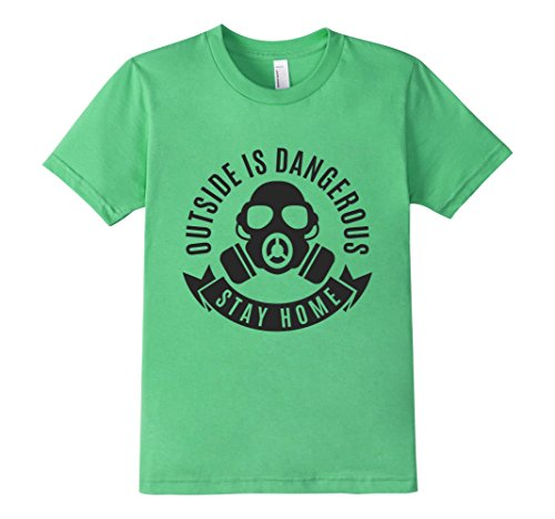 Kids-EmmaSaying-Outside-Is-Dangerous-Mask-Design-T-Shirt-Fun-Tee-Grass