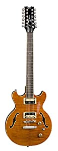Dean BOCA 12 String Semi Hollow Body Electric Guitar Trans Amber